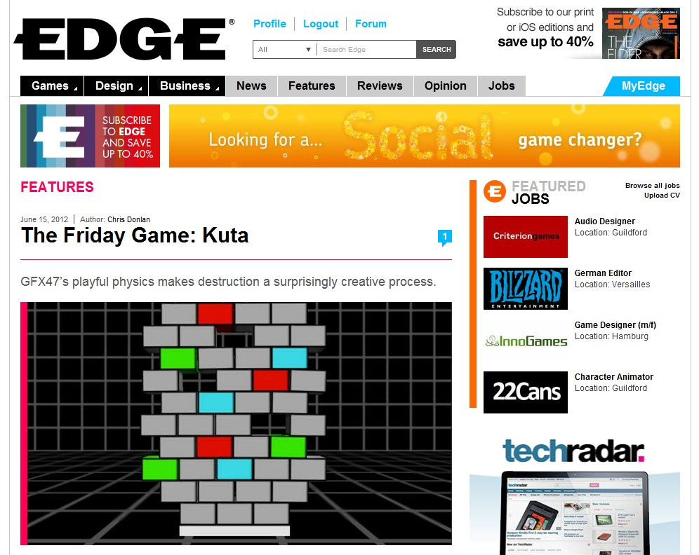Kuta reviewed by EDGE!