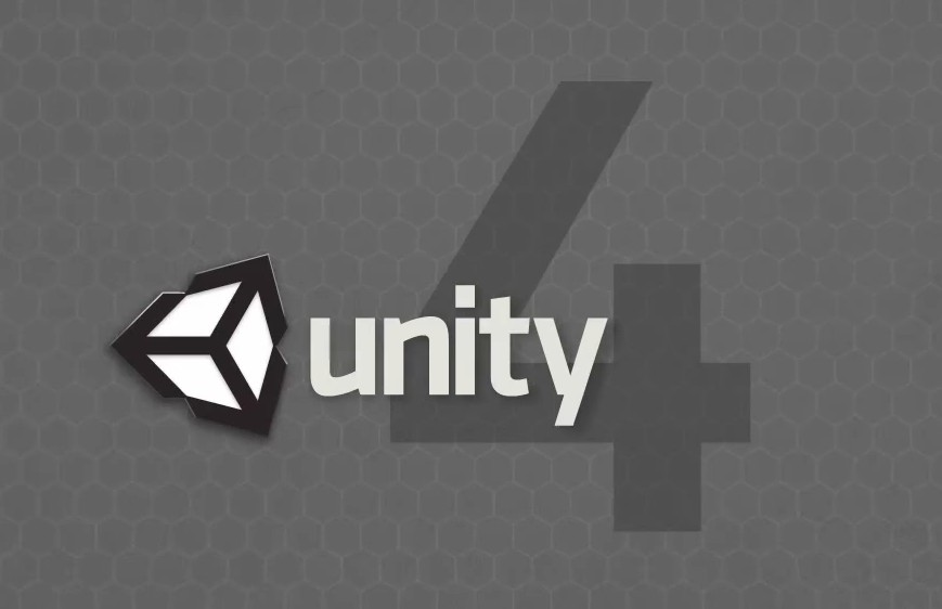 An image of the Unity 4 logo